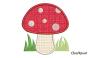 Motif champignon