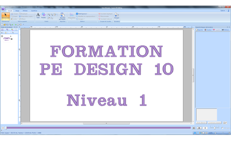 Formation PE DESIGN 10 Niveau 1