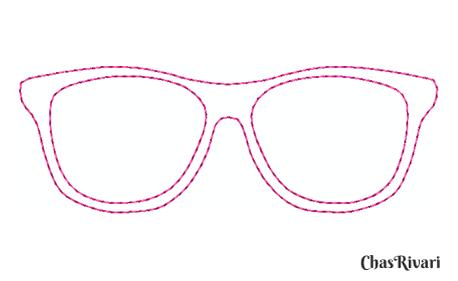 Motif lunettes gratuit