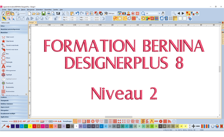 Formation Wébinaire Bernina DesignerPlus 8 - Niveau 1