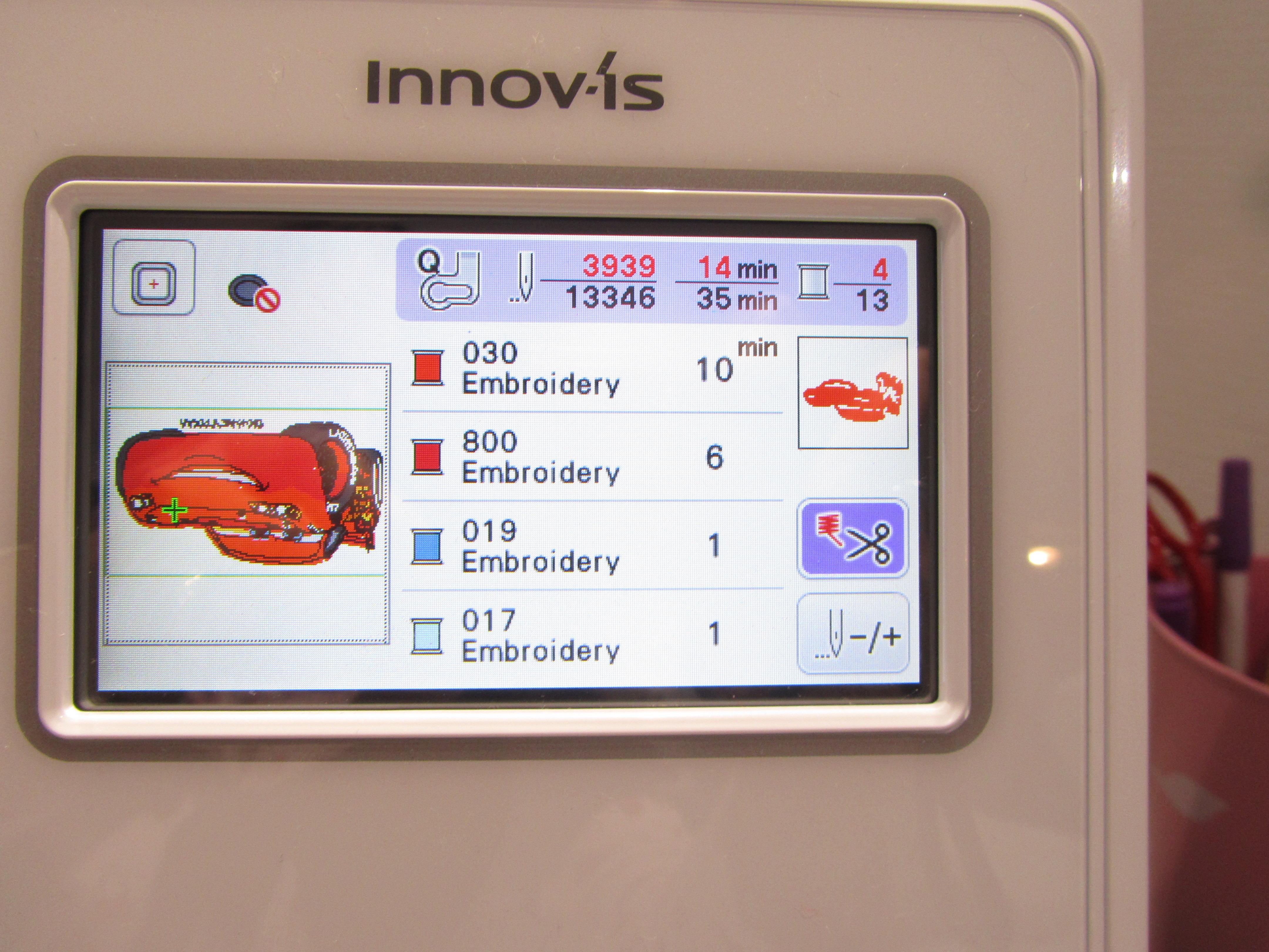 Des fonctions d édition des motifs disponibles sur la machine   on peut  directement sur l écran faire pivoter les motifs 915daca9c70